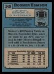 1988 Topps #340  Boomer Esiason  Back Thumbnail