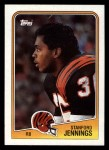 1988 Topps #342  Stanford Jennings  Front Thumbnail