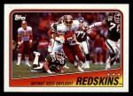 1988 Topps #7   -  George Rogers / Gary Clark / Barry Wilburn / Charles Mann / Alvin Walton Washington Redskins Leaders Front Thumbnail