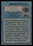 1988 Topps #127  Barry Krauss  Back Thumbnail