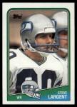 1988 Topps #135  Steve Largent  Front Thumbnail