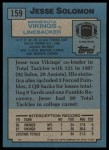 1988 Topps #159  Jesse Solomon  Back Thumbnail