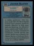 1988 Topps #295  Jackie Slater  Back Thumbnail