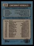 1988 Topps #339   -  Larry Kinnebrew / Eddie Brown / David Fulcher / Robert Jackson / Reggie Williams / Tim Krumrie Bengals Leaders Back Thumbnail