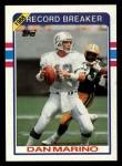 1989 Topps #5   -  Dan Marino Record Breaker Front Thumbnail