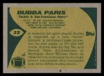 1989 Topps #22  Bubba Paris  Back Thumbnail