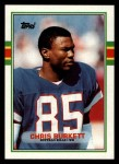 1989 Topps #54  Chris Burkett  Front Thumbnail