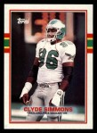 1989 Topps #109  Clyde Simmons  Front Thumbnail