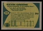 1989 Topps #134  Kevin Greene  Back Thumbnail