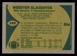 1989 Topps #140  Webster Slaughter  Back Thumbnail