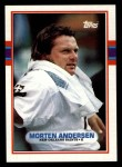 1989 Topps #153  Morten Andersen  Front Thumbnail