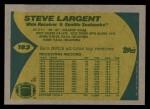 1989 Topps #183  Steve Largent  Back Thumbnail