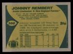1989 Topps #200  Johnny Rembert  Back Thumbnail