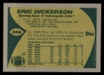 1989 Topps #206  Eric Dickerson  Back Thumbnail