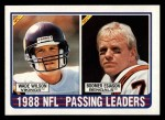 1989 Topps #217   Passing Leaders Front Thumbnail