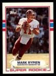 1989 Topps #253  Mark Rypien  Front Thumbnail