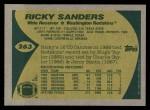 1989 Topps #263  Ricky Sanders  Back Thumbnail