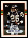 1989 Topps #310  Lionel James  Front Thumbnail