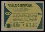 1989 Topps #373  Don Majkowski  Back Thumbnail