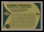 1989 Topps #387  Danny Noonan  Back Thumbnail