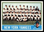 1976 Topps #17   -  Billy Martin Yankees Team Checklist Front Thumbnail