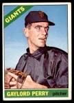 1966 Topps #598  Gaylord Perry  Front Thumbnail