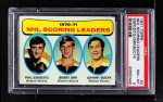 1971 Topps #3   -  Phil Esposito / Johnny Bucyk / Bobby Orr Scoring Leaders Front Thumbnail