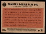 2011 Topps Heritage #37   -  Derek Jeter / Robinson Cano Bombers' Double Play Duo Back Thumbnail
