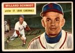 1956 Topps #323 xMAJ Willard Schmidt  Front Thumbnail