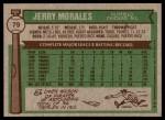 1976 Topps #79  Jerry Morales  Back Thumbnail