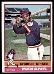 1976 Topps #408  Charlie Spikes  Front Thumbnail