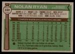 1976 Topps #330  Nolan Ryan  Back Thumbnail
