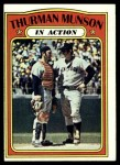 1972 Topps #442   -  Thurman Munson In Action Front Thumbnail