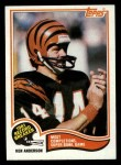 1982 Topps #1   -  Ken Anderson Record Breaker Front Thumbnail
