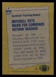 1982 Topps #4   -  Stump Mitchell Record Breaker Back Thumbnail