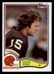1982 Topps #59  Steve Cox  Front Thumbnail