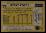 1982 Topps #78  Steve Foley  Back Thumbnail