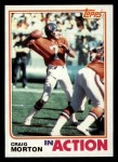 1982 Topps #82   -  Craig Morton In Action Front Thumbnail
