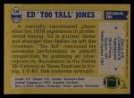 1982 Topps #318  Ed Too Tall Jones  Back Thumbnail
