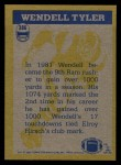 1982 Topps #386   -  Wendell Tyler In Action Back Thumbnail