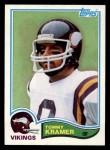 1982 Topps #394  Tommy Kramer  Front Thumbnail
