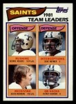 1982 Topps #404   Saints Leaders Front Thumbnail