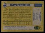 1982 Topps #413  Dave Waymer  Back Thumbnail