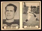 1962 Topps CFL  Joe-Bob Smith / Dave Mann  Front Thumbnail