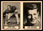 1962 Topps CFL  Jack Hill / Len Legault  Front Thumbnail