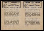 1962 Topps CFL  Bobby Jack Oliver / Sandy Stephens  Back Thumbnail