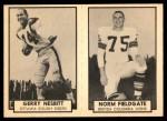 1962 Topps CFL  Norm Fieldgate / Gerry Nesbitt  Front Thumbnail