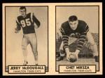 1962 Topps CFL  Jerry McDougall / Chet Miksza  Front Thumbnail