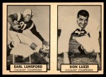 1962 Topps CFL  Earl Lunsford / Don Luzzi  Front Thumbnail
