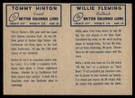 1962 Topps CFL  Willie Fleming / Tommy Hinton  Back Thumbnail